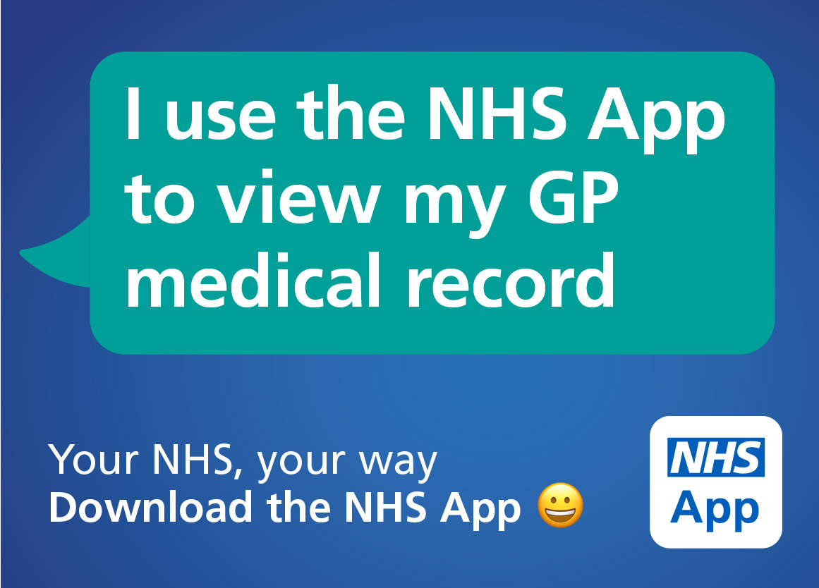 I use the NHS app to view my GP record