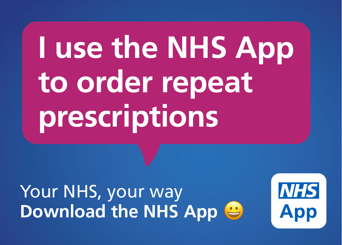 I use the NHS app to order prescriptions