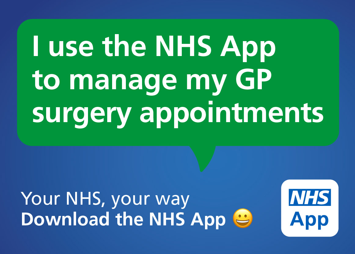 I use the NHS app to manage my appointments
