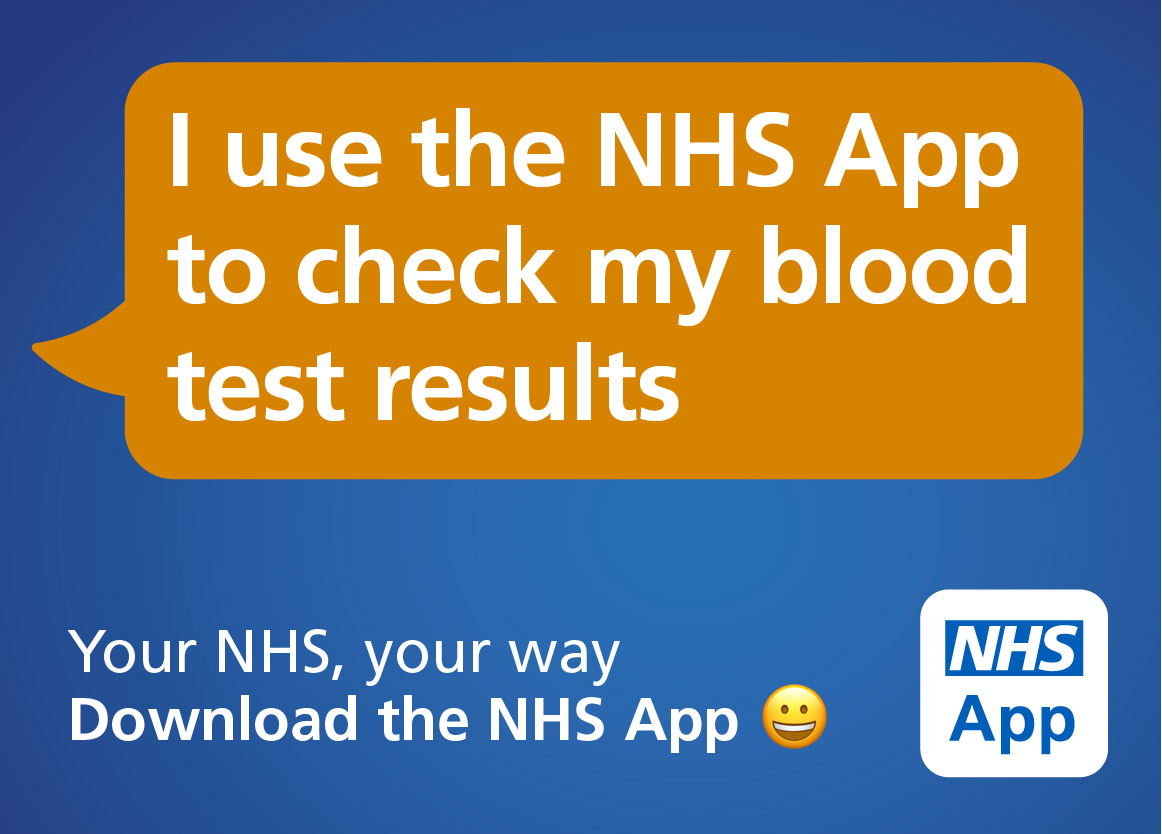 I use the NHS app to check my blood test results